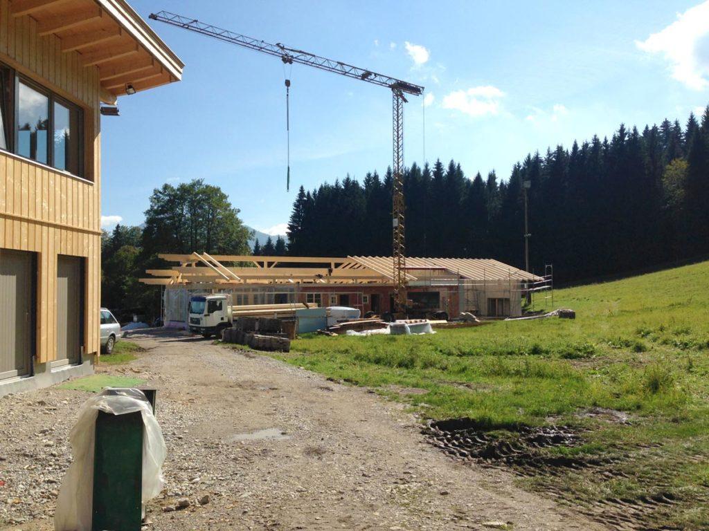 Bau Skihütte und Zielhaus Sonnenbichl